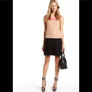 DKNY Color Block Linen Blend Shift Dress